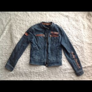Harley Davidson Jean Jacket XS Women's